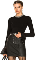 Alexander Wang Long Sleeve Crew Neck Pullover Sweater in Black.