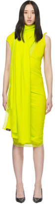 Vetements Yellow Lingerie Wrap Dress