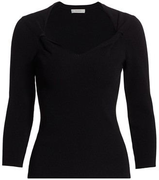 Milly Twist Front Sweater