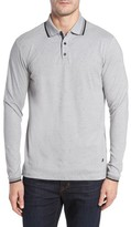Stone Rose Men's Speckle Knit Long Sleeve Polo