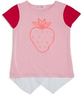 Design History Girls' Strawberry High Low Tee - Little Kid