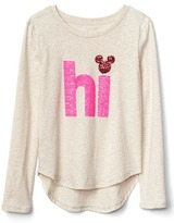 Gap GapKids   Disney Mickey Mouse and Minnie Mouse sequin graphic tee