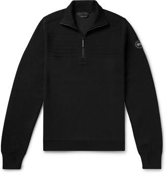 Canada Goose Clarke Merino Wool-Blend Half-Zip Sweater