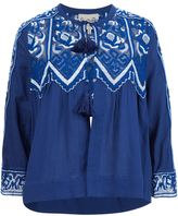 Sea fishnet lace peasant blouse - women - Cotton - 4