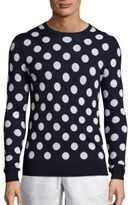 Michael Kors Big Dot Printed Merino Wool Sweatshirt
