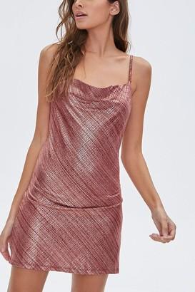 Forever 21 Metallic Cami Mini Dress