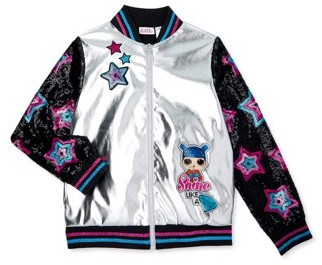 L.O.L Surprise! L.O.L. Surprise! Girls 4-14 Sequin Shine Bomber Jacket