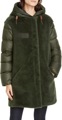 Mr & Mrs Italy Faux Shearling & Quilted Down Combo Puffer Coat