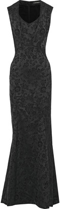 Zac Posen Satin Brocade Gown