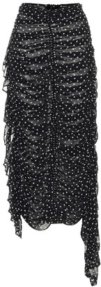 Dries Van Noten High-rise polka-dot silk skirt
