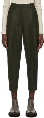 Acne Studios Green Wool Flannel Trousers