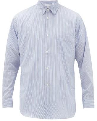 Comme des Garçons Shirt Chest-pocket Striped Cotton Shirt - Blue White