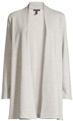 Eileen Fisher Simple Linen-Blend Herringbone Jacket