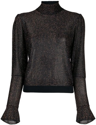 Chloé metallic embroidered blouse
