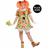 Asstd National Brand Giggles The Clown 4-pc. Dress Up Costume Plus