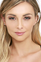 LuLu*s Play It By Ear Gold Rhinestone Ear Cuff