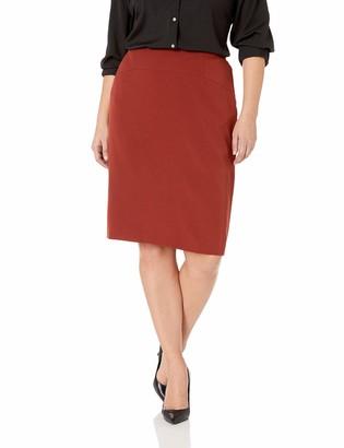 Kasper Women's Size Plus Stretch Crepe Slim Skirt