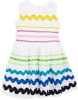 Halabaloo Baby's, Little Girl's & Girl's Ricrac Eyelet Cotton Dress