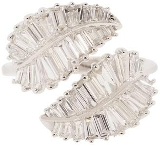 Anita Ko 18kt White Gold Palm Leaf Diamond Ring