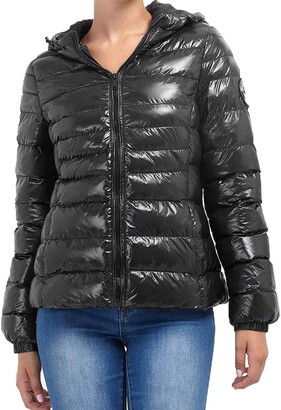 Brave Soul Womens Ladies Quilted Puffer Padded Warm Hooded Thick Winter Bubble Coat Jacket Black