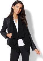 New York & Co. Mixed Fabric Draped Jacket