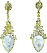 Todd Reed Grey And Natural Colored Diamond Earrings