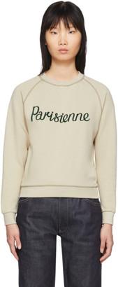 MAISON KITSUNÉ Beige Parisienne Sweatshirt