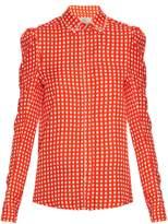 Preen by Thornton Bregazzi Ari crystal-embellished gingham shirt