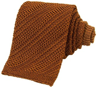 40 Colori Rust Solid Silk Knitted Tie