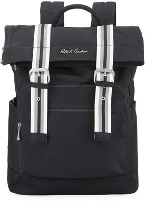 Robert Graham Men's Canvas Flap-Top Backpack
