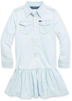 Ralph Lauren Girls' Chambray Shirt Dress - Little Kid