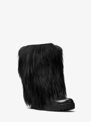 Michael Kors Perkins Fur and Leather Boot