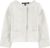 Lili Gaufrette Short jacquard knit jacket