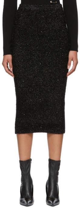 Versus Black Lurex Skirt