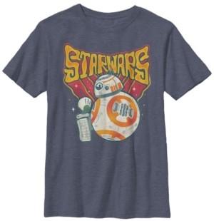 Star Wars Big Boys Retro Psychedelic Bb-8 and D-o Short Sleeve T-Shirt