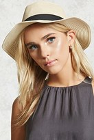 Forever 21 FOREVER 21+ Pleated Straw Fedora