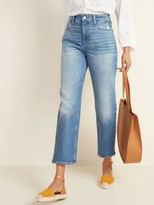 Old Navy Extra High-Waisted Sky-Hi Straight Distressed Jeans for Women
