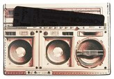 Paul Smith Men's Boom Box Print Calfskin Leather Card Case - Black