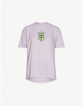 Stussy Graphic-print cotton-jersey T-shirt