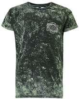Topman Khaki Wash Custom Print Roller T-Shirt