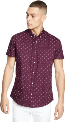 yd. Burgundy Large Anchor Shirt