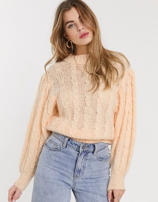 ASOS DESIGN cable sweater in lofty knit