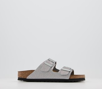 Birkenstock Arizona Two Strap Sandals Silver Sparkle
