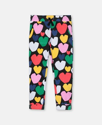 Stella McCartney multicolour hearts joggers