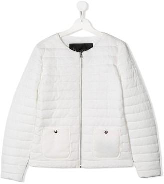 Herno TEEN collarless puffer jacket