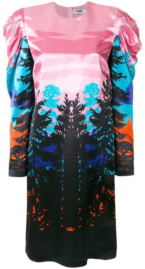 MSGM forest print dress