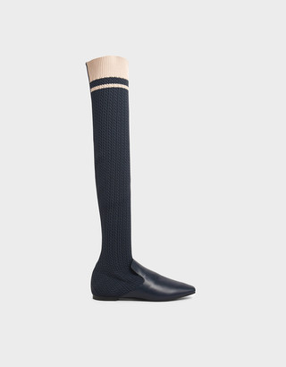 Charles & Keith Knitted Thigh High Boots