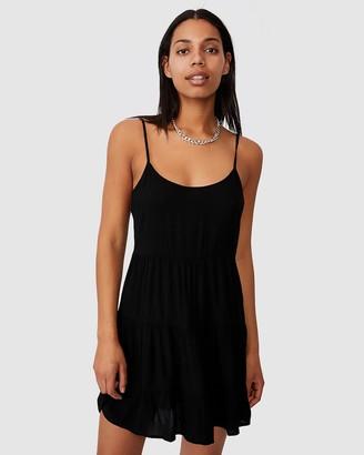Cotton On Women's Black Mini Dresses - Woven Bindi Strappy Mini Dress - Size XS at The Iconic