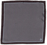 Canali Geometric Silk Pocket Square w/ Tags