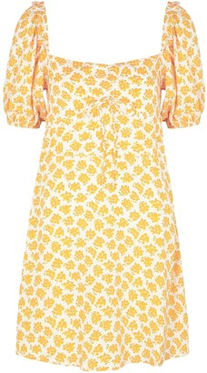 Faithfull The Brand Shimma white floral-print mini dress